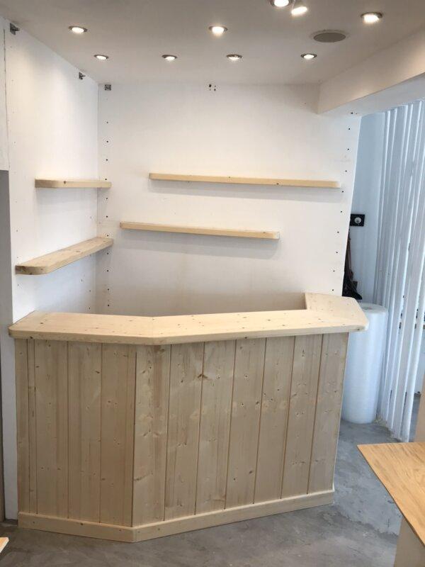 Wooden Mini Bar Mykonos